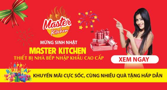 Banner Mừng sinh nhật thiết bị nhà bếp